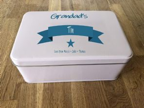 PERSONALISED GRANDAD'S Tin Gardening Present ANY NAME Grandpa ~ Cake ~ Tools ~